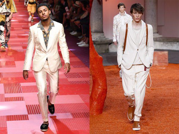 From left: Dolce & Gabbana, Ermenegildo Zegna