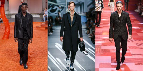 From left: Ermenegildo Zegna, Prada, Dolce & Gabbana menswear ss18