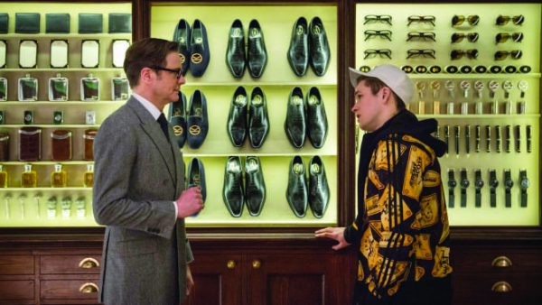 Eggsy takes classic gent style advice from Sir Galahad