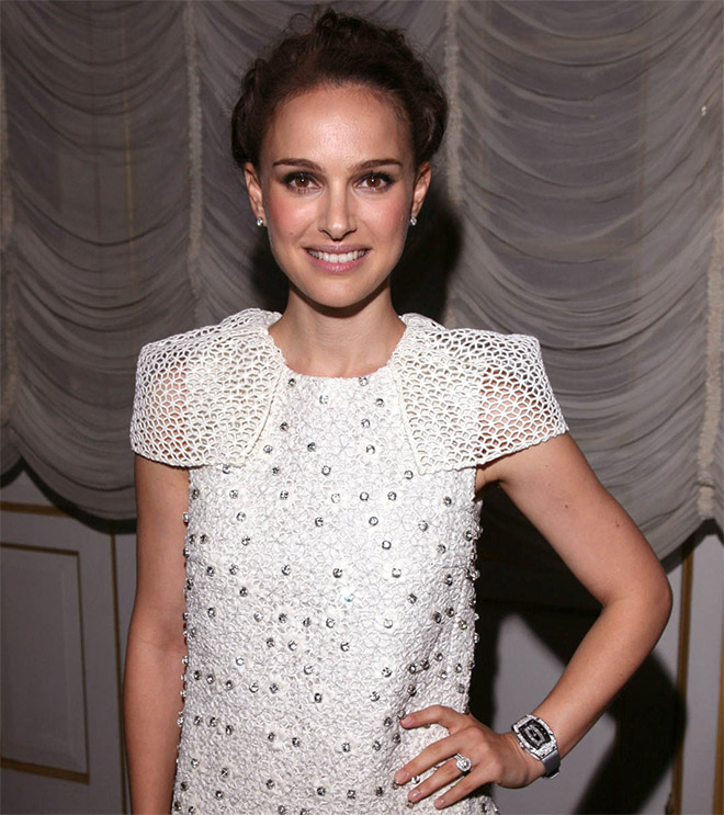 Richard Mille worked with the Oscar-winning Black Swan actress to produce the RM 19-01 Natalie Portman but the actress has been seen to wear other women's models of Richard Mille watches