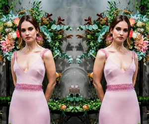 Lily James for My Burberry Blush