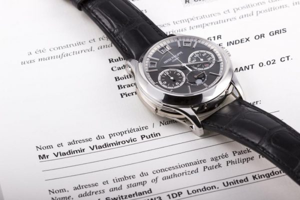 Earlier in the month, it was announced by Monaco Legends Auction (an Antiquorum partner) that a reference 5208P had become available for auction, the retail CHF 980,000 Patek Philippe ref. 5208P had belonged to none other than the world's favourite boogyman - Vladimir Putin.