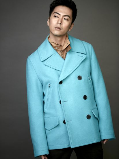 Playing with colour also means that that striking or even pastel colours transposed on masculine cut garments like this peacoat from Hermes serve to accentuate a classic gents bravado in the rainbow realm