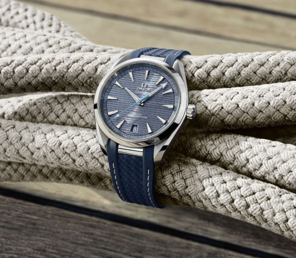 ... inspired by the teak floors of luxury yachts but seriously, a subtle  homage to the vintage 1950s Seamaster Geneve, entered the Aqua Terra  collection's ...