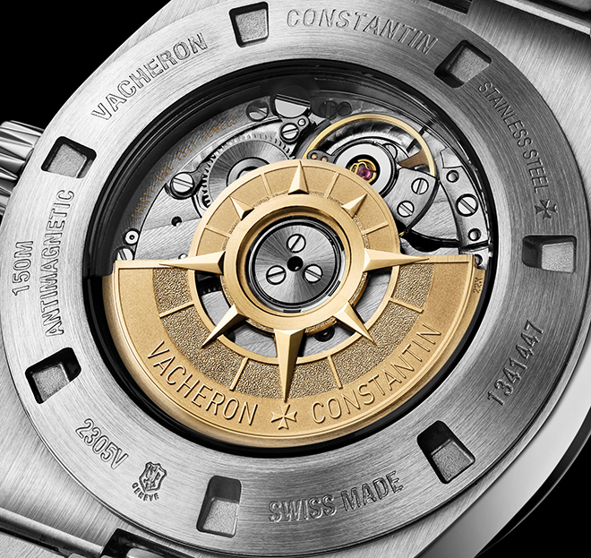 Geneva Seal or poincon de Geneve on a caseback of Vacheron Constantin watch