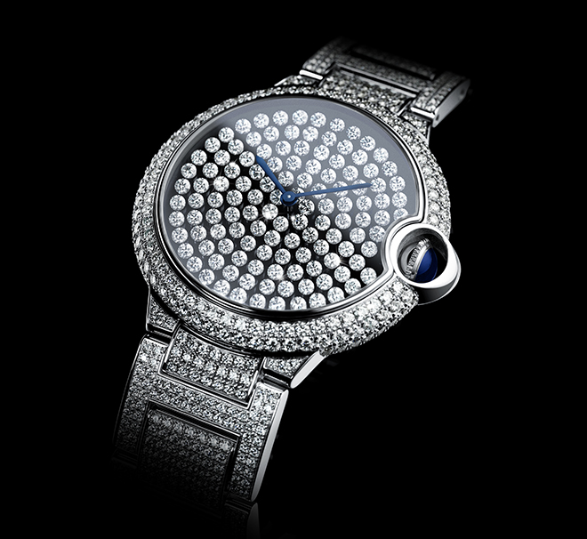 The Ballon Bleu De Cartier Vibrating Setting watch