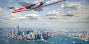 Breaking Time Barrier with Supersonic Business Jet