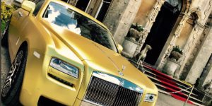 Buy this Gold Rolls-Royce with Cryptocurrency Only