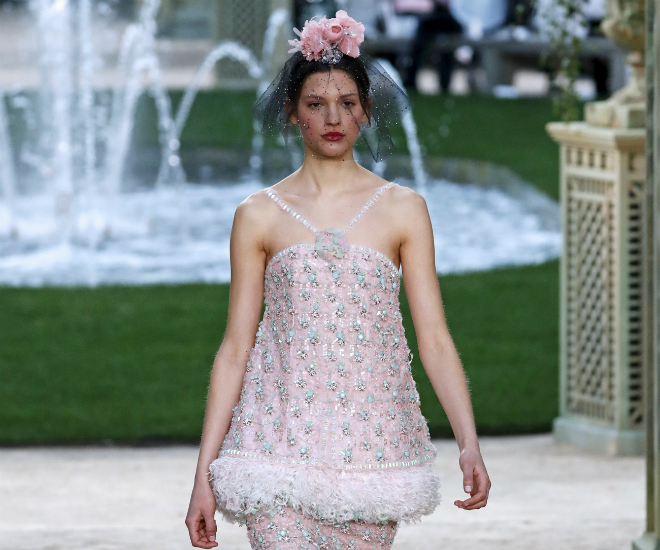 Chanel goes girly with pretty-in-pink walk in the park