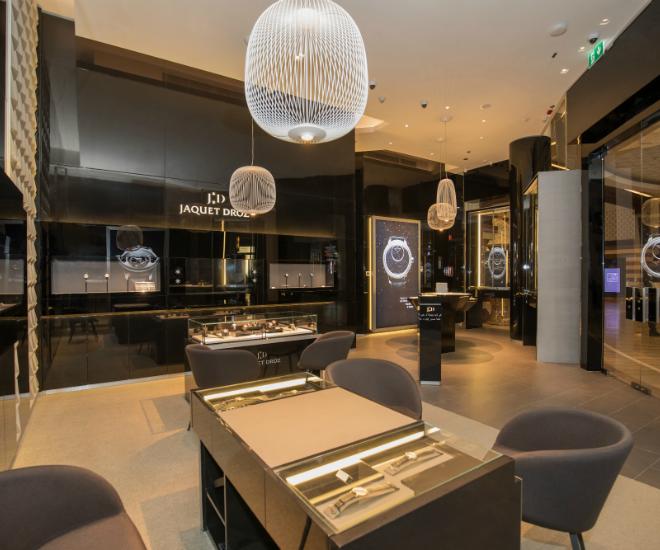 New jaquet droz boutique opens in dubai mall amazingreveal for Boutique one dubai