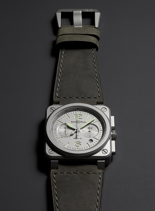 For Baselworld 2018, Bell & Ross reintroduces the BR03-94 Horolum, a chronograph update to the time-only version of what was launched last year in a limited edition production of 500 pieces.