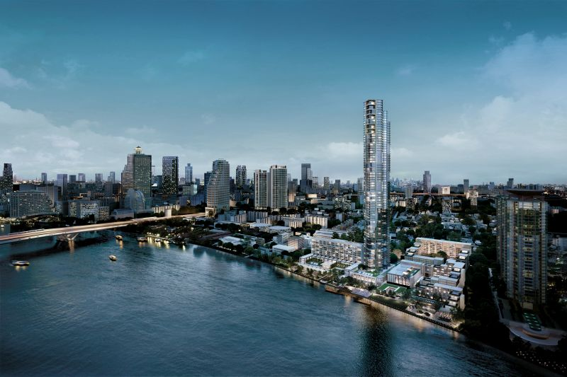 Developed by Country Development Group, the Four Seasons Private Residences Bangkok at Chao Phraya River is a premier 73-storey residential tower meant to define luxury waterfront living.
