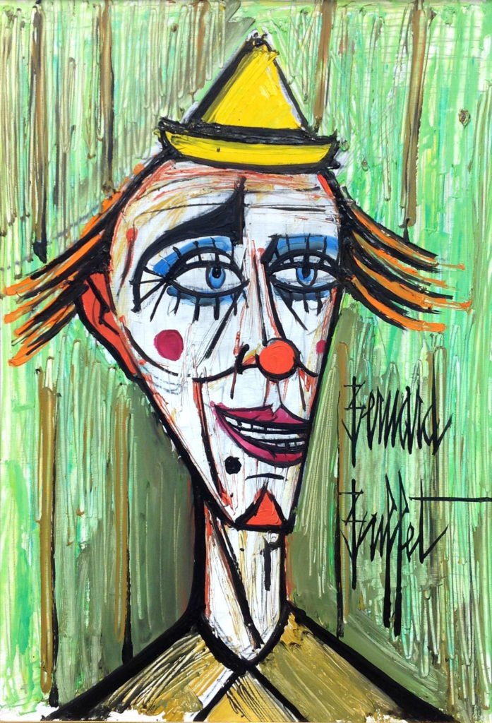 - Bernard Buffet, 'Clown', 1993/Image courtesy Galeries Bartoux