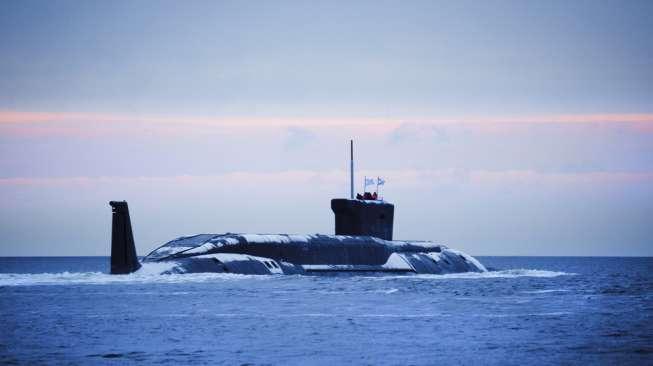 Ilustrasi kapal selam Rusia. (Shutterstock)