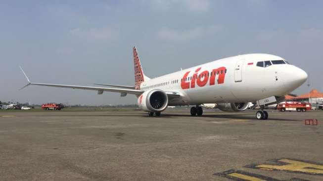 Pesawat Lion Air jenis Boeing 737 MAX 8 di Bandara Internasional Soekarno-Hatta, Jakarta. [Dok Lion Air Group]