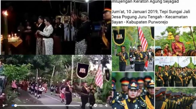 Foto dan video viral kirab Keraton Sejagat di Purworejo (Facebook)