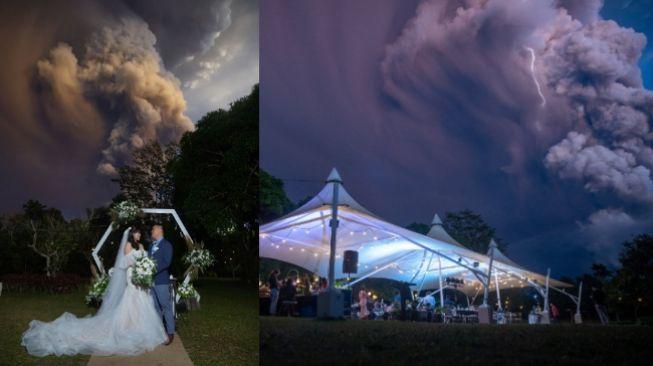 Gunung Taal Filipina Meletus, Pengantin ini Tetap Lanjutkan Pernikahan (FB Randolf Evan Photography)