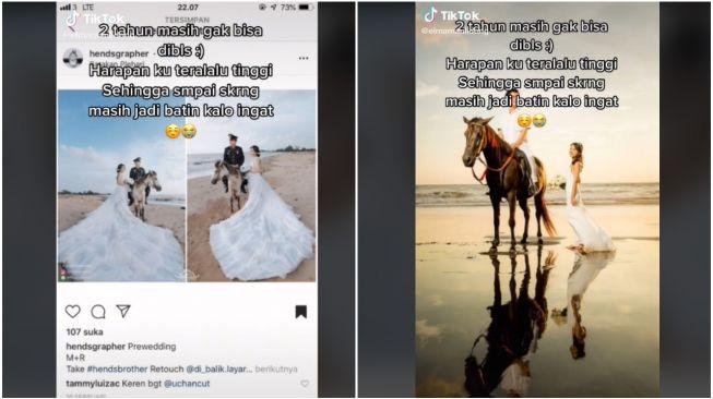 Viral prewedding ala pangeran pakai kuda, tapi hasilnya jauh dari ekspetasi pengantin. Bahkan sudah 2 tahun berlalu, sampai kini masih kesal melihal hasil jadinya foto itu.