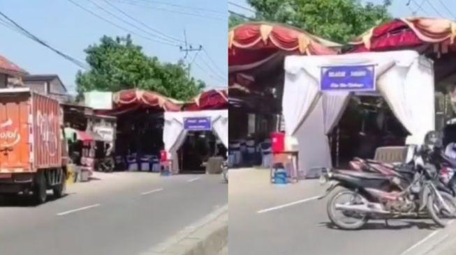 Viral jahatan pernikahan tutup jalan raya mengundang hujatan dari netizen. Bahkan sumpah serapah pun mengalir ke mempelai.