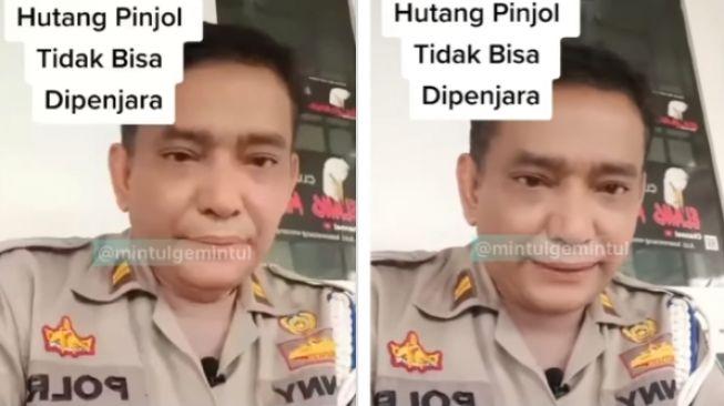 Video viral seorang polisi umumkan pengutang pinjaman online tak akan dipenjara jika tak bayar. Sebab hukunnya perdata, bukan pidana. Sehingga tukang utang pinjaman online tak perlu khawatir