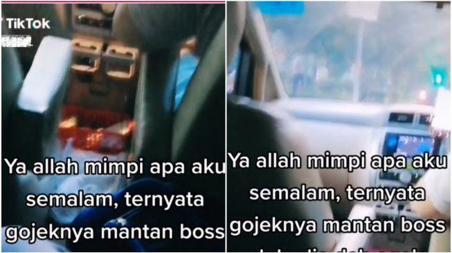 Wanita Syok Ketemu Mantan Bos Jadi Sopir Taksi Online (TikTok)