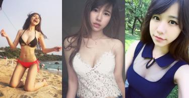 台灣的天生麗質,清純美麗的女友風