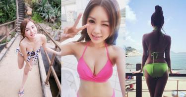 來自香港的眉目清秀美女子,她運動時很有美感