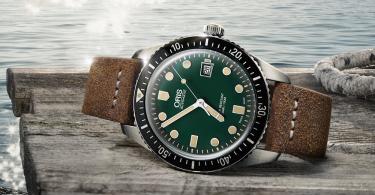 "【屬於海洋的深綠】Oris 潛水錶 Divers Sixty-Five ""oceanic"""