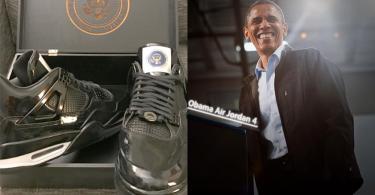 只屬於奧巴馬的Nike!全球僅一雙「Obama Air Jordan 4」總統專屬版!