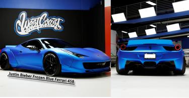 338萬!Justin Bieber拍賣「Frozen Blue」法拉利458!