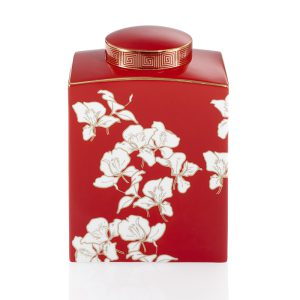 Shanghai Tang Ginger Flower Bone China Jar