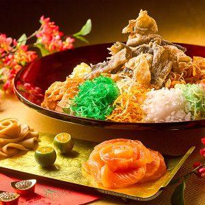 Wan Hao - Abalone & Salmon Yu Sheng with Crispy Fish Skin