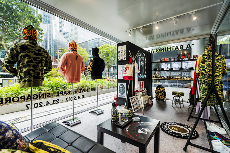 Fashion exhibition in Singapore: Rare merchandise and memorabilia at BAPE Singapore's 7th anniversary pop-up