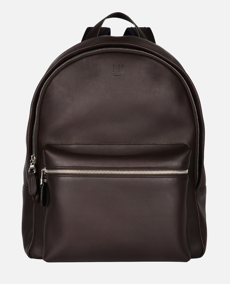 Hampstead Rucksack in Dark Brown from Dunhill's Spring/Summer 2017 collection. Image courtesy of Dunhill's Website