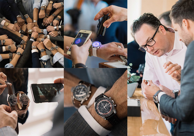 Omega Speedmaster Community with Robert-Jan Broer on the far right