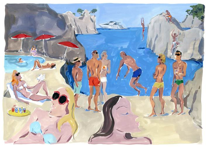 Moncler X Parisian Artist Jean-Philippe Delhomme creates Witty Realistic Postcards