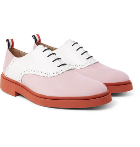 Thom Browne Pink Laced up loafers