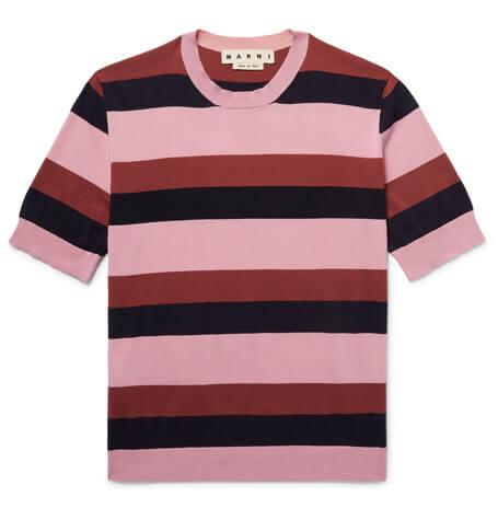Pink Marni Striped top