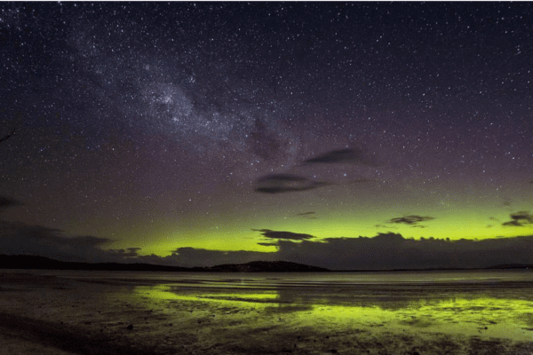 Aurora Australis in Tasmania by @australiangeographic