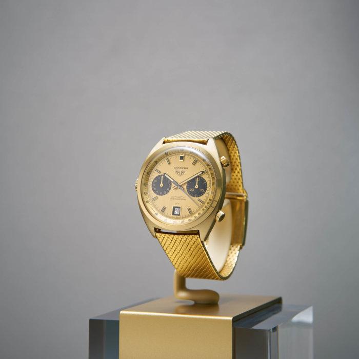 18 ct gold Heuer Carrera