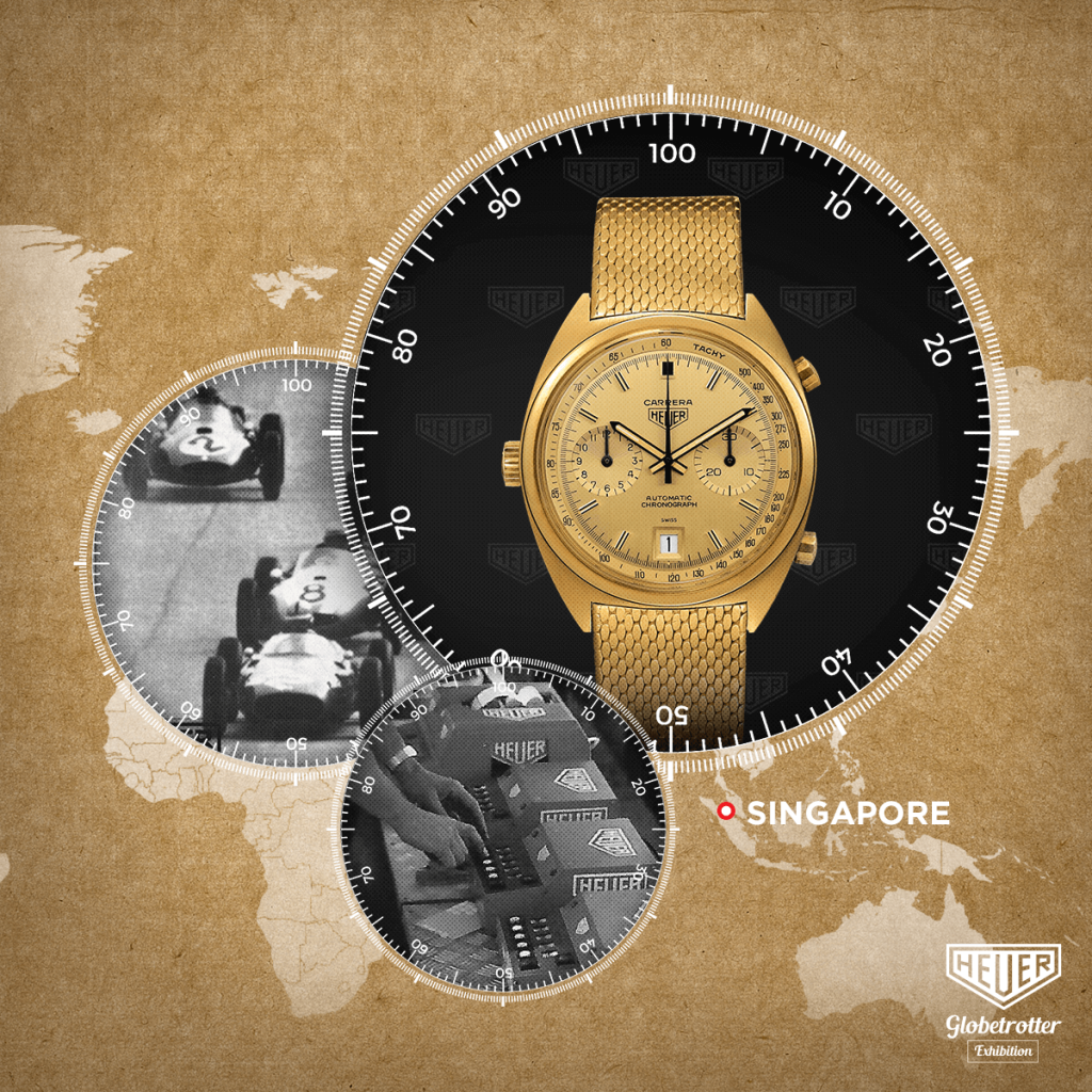 """TAG Heuer's """"Heuer Globetrotter"""" exhibition travels to Singapore this September"""