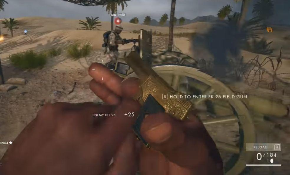 【有片】《Battlefield 1》隱藏迷你手槍 手指咁大!