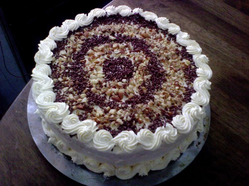 kek span vanilla dgn cream cheese frosting   myresipi