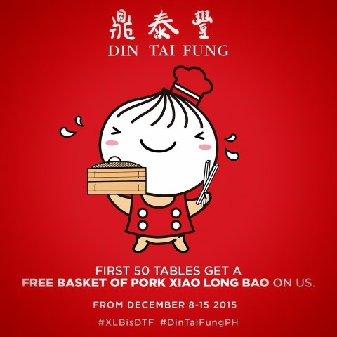 Din Tai Fung opens in Manila with a special promo. Image courtesy of Din Tai Fung Philippines.