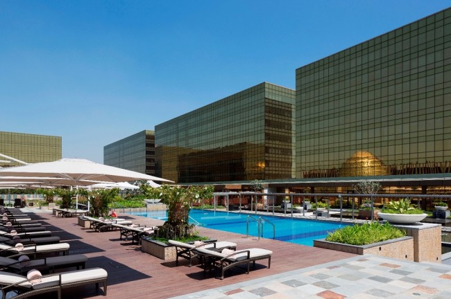 Hotel Nobu's pool view. Photo courtesy of Nobu Hotel Manila.