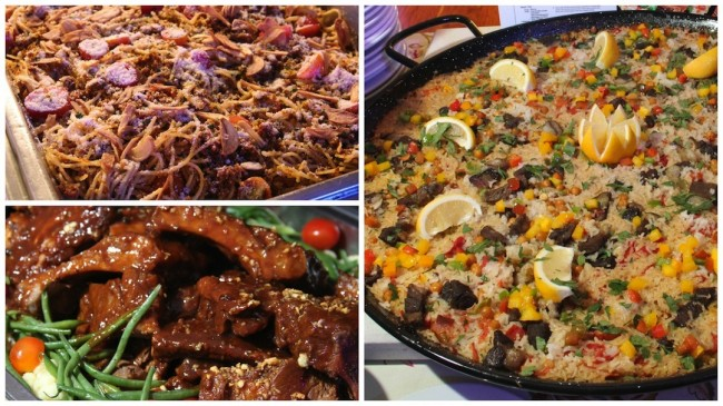 Three recipes to try from Appetite Magazine's newly launched book, 'Cooking with Appetite': Clockwise, from top left: Longganiza Pasta Espesyal, Lamb and Red Bell Pepper Paella, and Glazed Baby Back Ribs. Photos by Rafael R. Zulueta, InterAksyon.com.