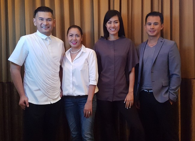 The team of Fashion Exchange International: events director Robby Carmona, PR and marketing expert Carmina Sanchez-Jacob, businesswoman Valerie Lim, and AsiaPacific MNC corporate veteran Henry Chan. Photo courtesy of FEI.