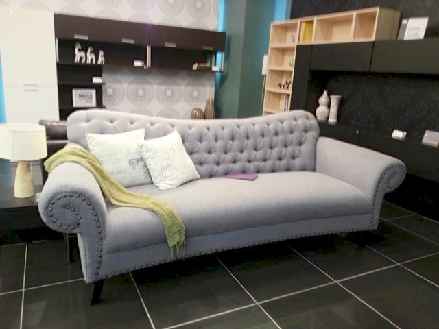 Upgrade your condo or home with a modern sofa in muted gray from SB Furniture. Photo by Francine M. Marquez, InterAksyon.com.