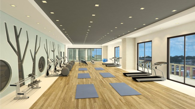 Residents can pursue their fitness goals at Acacia Escalades' gym and fitness area. Photo courtesy of Robinsons Land Corporation.