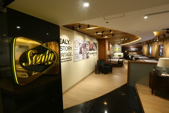 Top brand for spring mattress, Sealy, opens its first boutique store in the country located at the fifth floor of Shangri-La Plaza. Photo courtesy of Sealy.